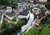 Alzette River through the Grund quarters of Luxembourg City