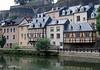 Homes along the Alzette River - in the Grund quarters - with the Chemin de la Corniche above - Luxembourg City
