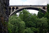 From the Pétrusse Valley - to the stone span of the Adolphe Bridge, also called the New Bridge - Luxembourg City
