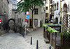 Flagstone streets of the Ville Haute quarters - businesses and dwellings - Luxembourg City