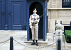 Sentry Guard, carrying an AUG (Austrian bullpup 5.56mm assault rifle, with bayonet) - at the portal to the Grand Ducal Palace (residence of the Grand Duke of Luxembourg) - Luxembourg City