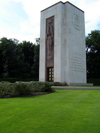 Memorial Chapel at the American Military Cemetary - Here is Enshrined the Memory of Valor and Sacrifice - In Proud Remembrance of the Achievements of Her Sons and in Humble Tribute to their Sacrifices, This Memorial has Been Erected By the United States of America - Luxembourg City