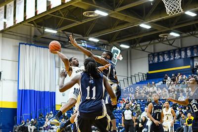 TORONTO, CANADA - Feb 07: during OCCA Mens Basketball Matchup between Humber Hawks vs Niagara Knights at Humber Hawks Athletics Center. Photo: Michael Fayehun/F10 Sports Photography
