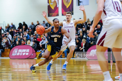 TORONTO, CANADA - Feb 09: during OCCA Basketball Matchup between Humber Hawks vs Redeemer Royals at Redeemer Royals Athletic Center. Photo: Michael Fayehun/F10 Sports Photography
