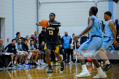 TORONTO, CANADA - Feb 15: during OCAA Basketball - Humber Hawks vs Sheridan Bruins at Sheridan College Athletic Centre. Photo: Michael Fayehun/F10 Sports Photography