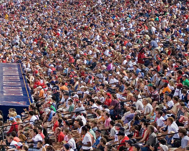 Atlanta Braves' home fans at Turner Field (art effect)
