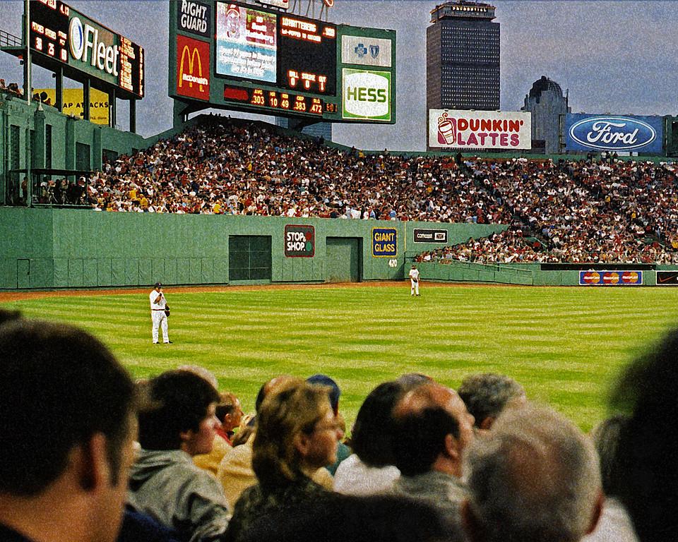 Boston Red Sox Manny Ramirez in left field Fenway Park (art effect)