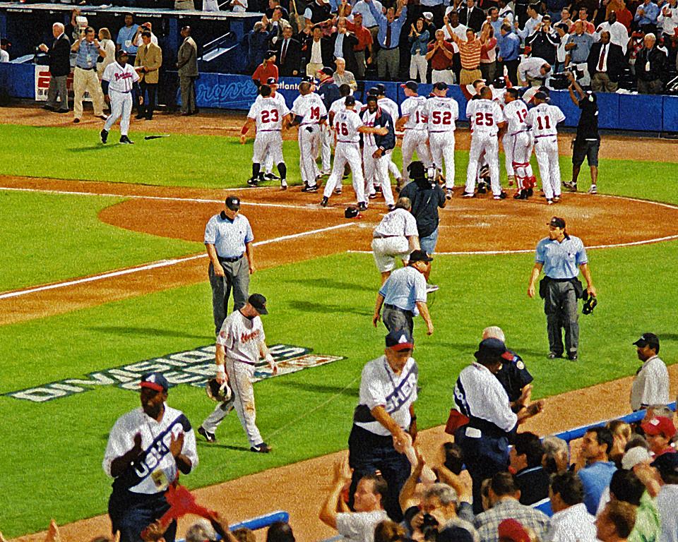 2005 National League Division series game Atlanta Braves vs. Houston Astros (art effect)