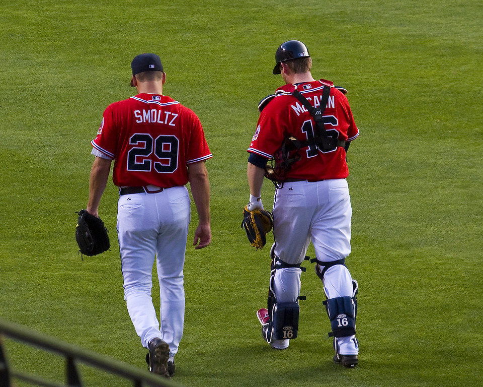 Atlanta Braves' Smoltz and McCann