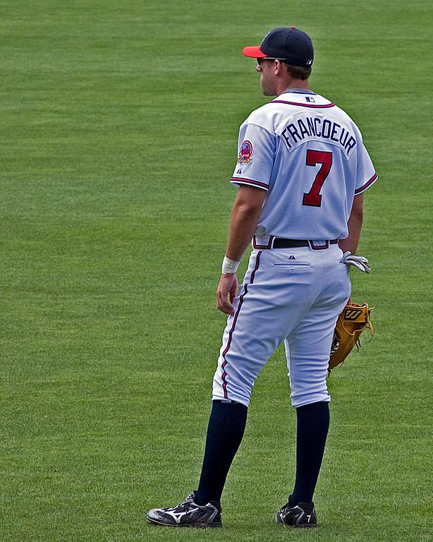 Atlanta Braves' Jeff Francoeur in right field