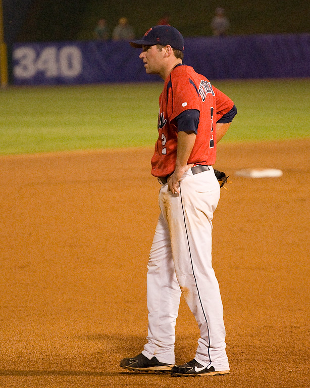 Ole Miss third baseman Cody Overbeck (art effect)