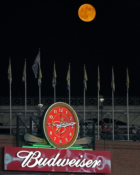Full moon Turner Field Atlanta  Home of the Braves