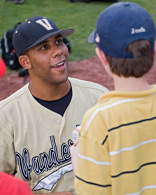 David Price signing autographs