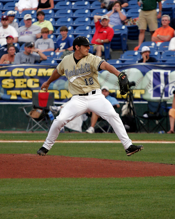 Casey Weathers 8th overall in the 2007 Major League Baseball Draft, pitching at Vanderbilt