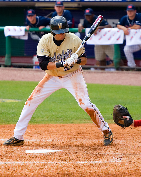 Ryan Flaherty, Vandy's ace shortstop, watches a ball go by.