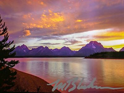 The Grand Tetons from  Jackson Lake