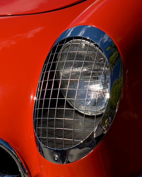 '55 Corvette Headlamp Isolated