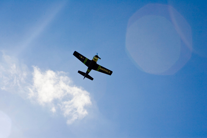 Ocean Reef Antique Aircraft Fly In Overhead Pass