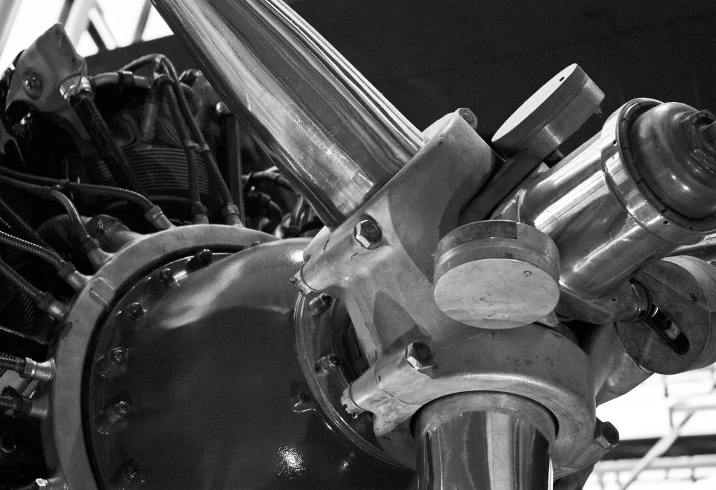 Radial engine on 1930's DC airplane.<br /> Air and Space Museum<br /> Washington, DC