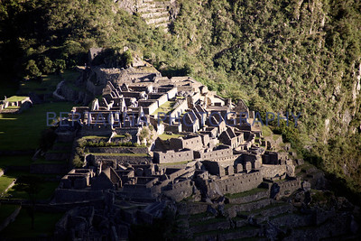 light on Machu Picchu, Peru