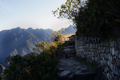 walk to the sun gate in Machu Picchu, Peru