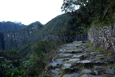 walk to the sun gate at Machu Picchu, Peru