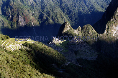 sunrise at Machu Picchu, Peru
