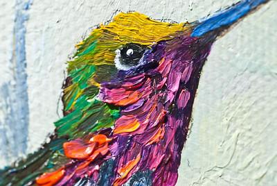 Hummingbird on Canvas Oil Paint ( Carol Foster Artist) ©JLCramerPhotography 2009