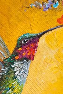 Hummingbird OIl Painting on Canvas ( Carol Foster Artist ) ©JLCramerPhotography 2009