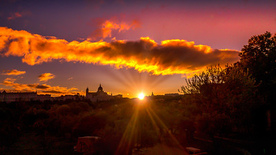 Sunrise in Madrid