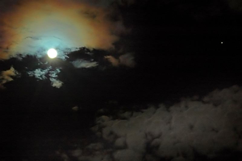 The September 2010 full moon and Jupiter