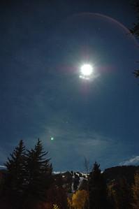 Full moon over Aspen Colorado