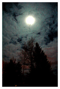 Full moon October 2012 from Park City Utah