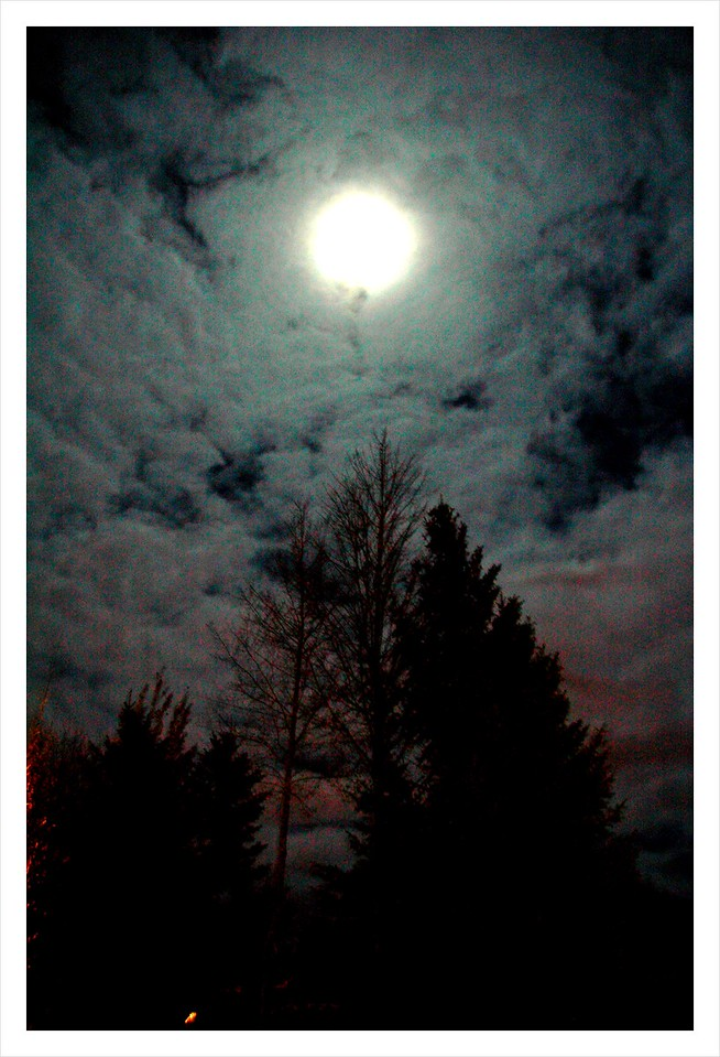 Full moon October 2012 from Park City Utah