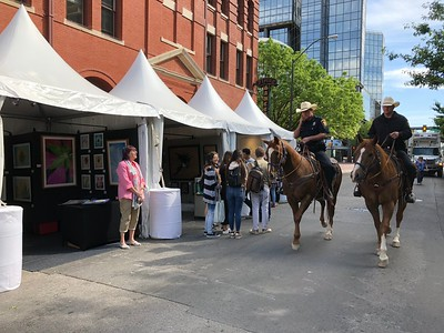 Always honored to have a few of Fort Worth's finest, the Mounted Patrol come by the booth.