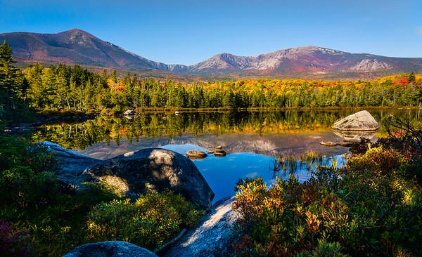 Colorful Sandy Stream Pond
