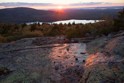 Sunset glow, Cadillac Mt. Acadia N.P. Me.