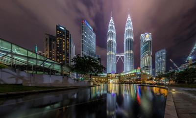 Petronas Towers and Suria KLCC Shopping Center, Kuala Lumpur, Malaysia