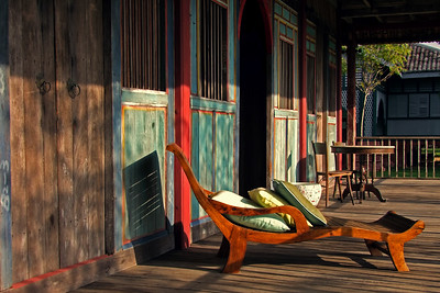 Plantation Chair in the Afternoon Sun, Temple Tree, Langkawi
