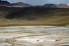 Vicuña - Tatio Geyser Field - here at about 14,000 ft (4,267 m) - with geothermal discharges up to around 15,100 ft (4,600 m) above sea level - the largest geyser field in the Southern Hemisphere, measuring about 12 mi² (30 km²) - northern Antofagasta region.