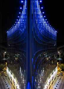 Mirrored façade