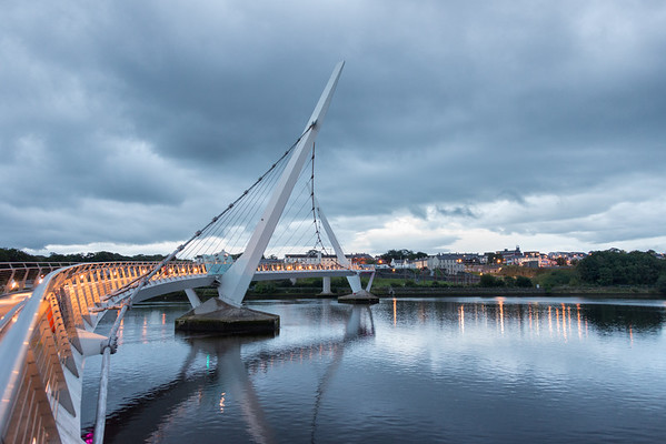 The Peace Bridge - Derry, Northern Ireland, UK - August 17, 2017