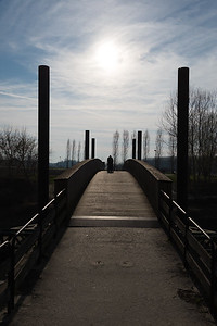 Bridge over the Crostolo Stream - Lido Po, Guastalla, Reggio Emilia, Italy - March 9, 2017