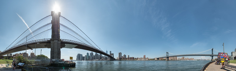 Brooklyn & Manhattan Bridges - New York, NY, USA - August 21, 2015