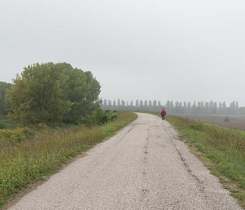 Strada Argine Oglio - Marcaria, Mantova, Italy - October 15, 2016