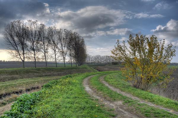Zena Canal Levee - Sant'Agata Bolognese, Bologna, Italy - November 14, 2012