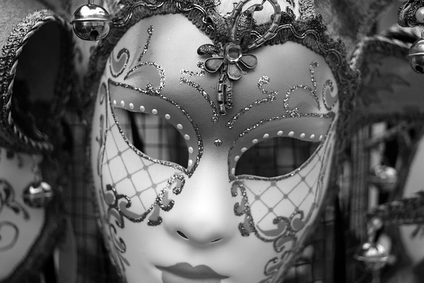 Carnival Mask - Burano, Venice, Italy - April 18, 2014