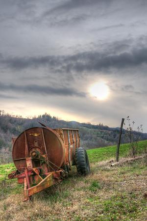 Agricultural Machine - Albinea, Reggio Emilia, Italy - December 18, 2011