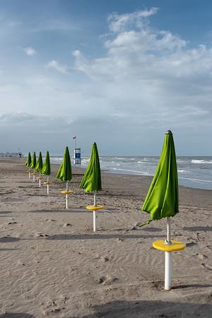 Beach Umbrellas - Milano Marittima, Cervia, Ravenna, Italy - April 24, 2019