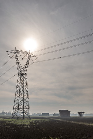 Power Lines - Crevalcore, Bologna, Italy - January 9, 2019